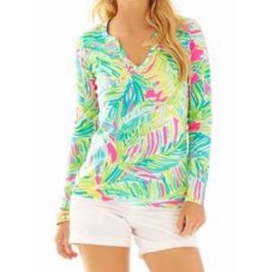"""🆕Lilly Pulitzer Kayleigh Top """"Tropical Storm"""""""